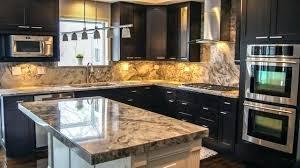 glass tile backsplash ideas with dark cabinets kitchen for trough bathroom s cabinet options design