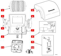 honeywell he160 humidifier parts bel aire electronicaircleaners com this parts drawing is from the he160 product data manual