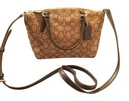 Coach Signature Mini Kelsey Satchel Crossbody Bag, Khaki ...
