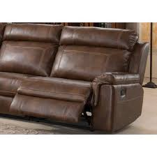 Nicole Brown Large 6piece Family Sectional With 3 Recliners Cup  Holders And Recliner Cup Holder Storage0