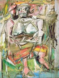 woman i 1950 2 oil enamel and charcoal on canvas