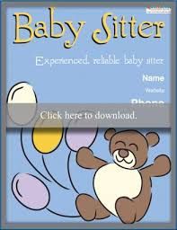 Babysitting Flyer Template Microsoft Word Free Free Babysitting Flyer Templates And Ideas Lovetoknow
