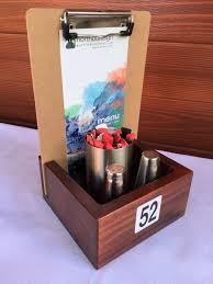 wooden café box