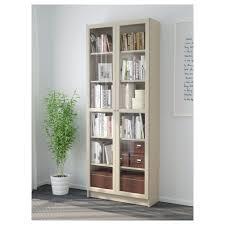 Ikea Billy Bookcase Billy Bookcase With Glass Doors Dark Blue Ikea