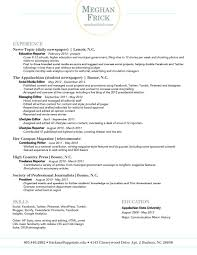 Unusual Resume Appstate Contemporary Entry Level Resume