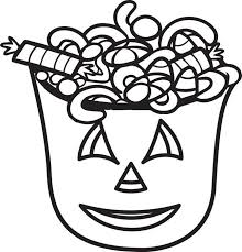 halloween candy coloring page. FREE Printable Halloween Candy Coloring Page For Kids With