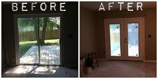 french door installation replacing sliding glass door with french door nice glass kitchen cabinet doors