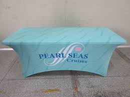 Round Plastic Table Covers With Elastic Printed Tension Spandex Stretch Tablecloths