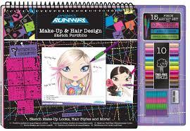 amazon fashion angels project runway make up hair design sketch portfolio artist set toys games