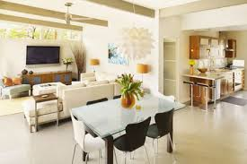 colors for interior walls in homes. Unique Interior Bright Living Room And Dining Kitchen With Cream Walls Inside Colors For Interior Walls In Homes T