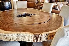 guanacaste slab round dining table