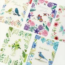 5pcs <b>A5</b>/<b>A6 6 Holes</b> Creative flowers Colored Notebook's Index ...