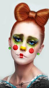 cool clown makeup for women diy makeup ideas bow hairstyle