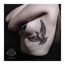 Tattoo Bird тату птица на рёбрах My Works тату идеи для