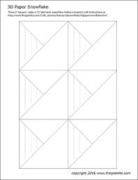 Blank Snowflake Template Paper Snowflake Templates Free Printable Templates