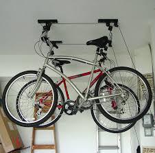 hanging bike rack garage
