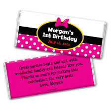 personalized chocolate bar wrappers birthday personalized chocolate bar wrappers minnie mouse theme