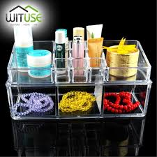 best selling large jewelry box drawers acrylic cosmetic organizer glossy makeup organizer drawers organizer