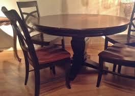 54 inch pedestal table round dining with leaf oak set black square