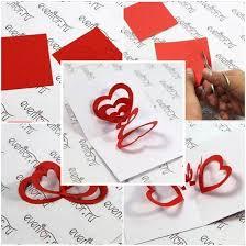 diy 3d hearts valentine s day card