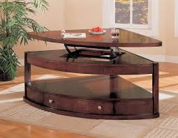 coaster evans pie shape lift top table