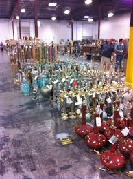 rows and rows of lamps mostly d at 24 36 chandeliers mirrors garden furniture yes you read that right
