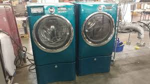 blue washer and dryer. Brilliant Blue Electrolux Blue Household Front Load WasherDryer Set  Appliance Mart  Factory Washer Dryer Oven Refrigerator Auction EquipBid With And R