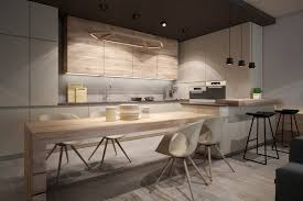 Light Wood Kitchen Modern Kitchen With Light Wood Interior Design Ideas