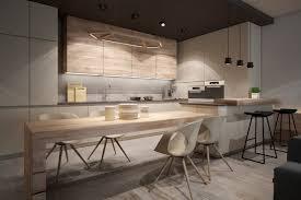 Modern Kitchen Light Modern Kitchen With Light Wood Interior Design Ideas