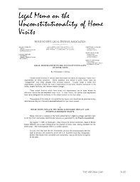Legal Memorandum On The Unconstitutionality Of Home Visits | Home ...