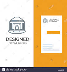 Bank Security Design Bank Banking Internet Lock Security Grey Logo Design And