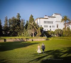 bride and groom in the sunken gardens santa barbara courthouse wedding
