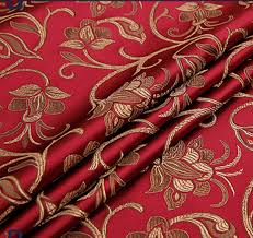 Floral Brocade Us 1 99 50 Off Red Retro Floral Brocade Fabric Damask Jacquard Apparel Costume Upholstery Furnishing Crafts Material Cushion Fabric 75cm 50cm In