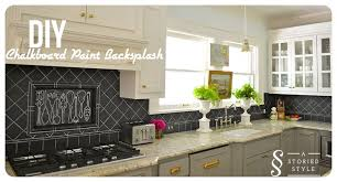 Painting Kitchen Tile Backsplash New DIY Tutorial Chalkboard Paint Backsplash 48 Home Depot Gift