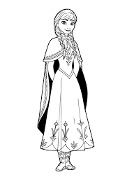 Disney Frozen Anna Coloring Pages Letscoloringcom Shrinky Dink