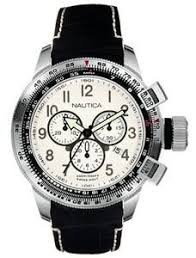 135 best images about nautica watches sporty south nautica men s a29505 ww chronograph black leather strap watch