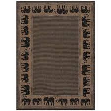recife elephant cocoa black 4 ft x 5 ft indoor outdoor area