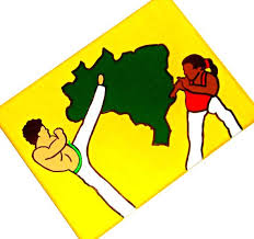 capoeira painting capoeira art martial arts decor brazilian art capoeira gift brazilian folk ar