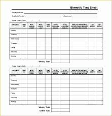 Bi Weekly Time Card Bi Weekly Timesheet Template Fresh Simple Weekly Timesheet Template