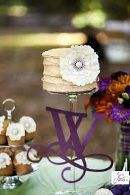 Rustic Small Wedding Cake With Ruffled Flowers Cakecentralcom