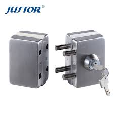 ju w512 frameless glass door lock double side key door lock