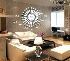 Dining Room Clock Wall Clock For Living Room Dining Room Wall Clocks  Creative Mirror Shine Living ...