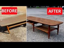 mid century furniture refinish replace laminate top with walnut veneer