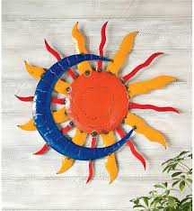 ingenious inspiration sun wall art home decor and moon metal wind weather handcrafted hd8124 outdoor large