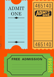 Free Templates For Tickets 24 Free Printable Ticket Templates Survey Template Words 22