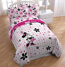 Amazon.com: Disney Minnie Mouse Full Size 5 Piece Bedding Set ...
