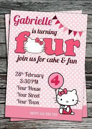 Hello Kitty Invitation Printable Hello Kitty Birthday Party Invitation Printable Von Invites2print