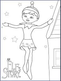 Don't touch him with your hands. Elf On The Shelf Coloring Page Free Printable Coloring Pages For Kids