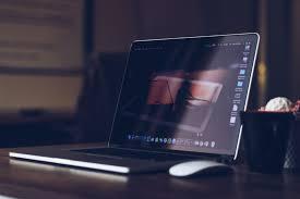 Office desk work Modern Macbook Desk Office Work Free Photo Negativespace Macbook Desk Office Work Free Stock Photo Negativespace