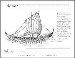 Small Picture Viking Longship Coloring Page
